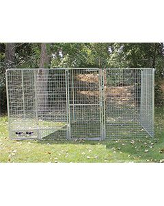 10' x 10' Basic Dog Kennel Pro (Galvanized)