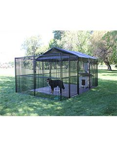 10' X 20' European Ultimate Dog Kennel (Standard)