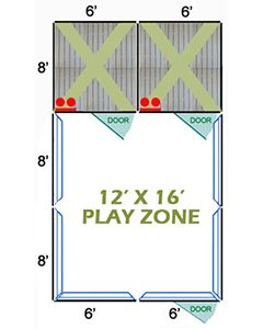 12' X 16' Complete Playzone W/Multiple 6' X 8' PRO Dog Kennels X2