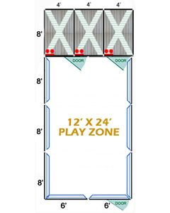12' X 24' Complete Playzone W/Multiple 4' X 8' PRO Dog Kennels X3