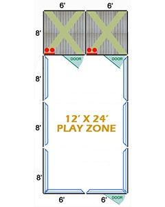 12' X 24' Complete Playzone W/Multiple 6' X 8' PRO Dog Kennels X2