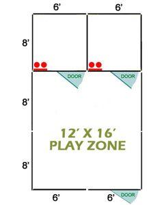 12' X 16' Basic Playzone W/Multiple 6' X 8' PRO Dog Kennels X2
