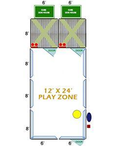 12' X 24' Ultimate Playzone W/Multiple 6' X 8' PRO Dog Kennels X2
