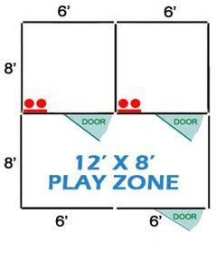 12' X 8' Basic Playzone W/Multiple 6' X 8' PRO Dog Kennels X2