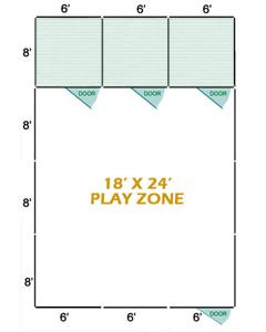 18' X 24' Vinyl Playzone W/Multiple 6' X 8' Dog Kennels X3