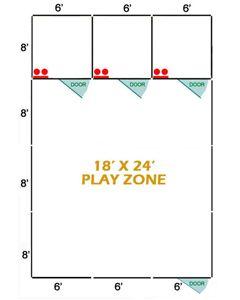 18' X 24' Basic Playzone W/Multiple 6' X 8' PRO Dog Kennels X3