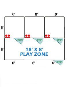 18' X 8' Basic Playzone W/Multiple 6' X 8' PRO Dog Kennels X3