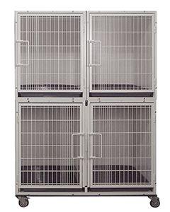 3 or 4 Unit Modular Powder Coated Cage Bank Kit
