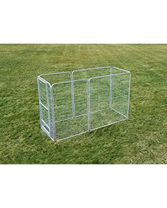 4' X 10' Basic Dog Kennel Pro (Galvanized)