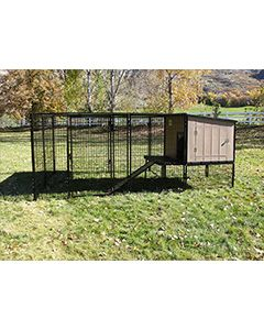 4' x 10' Run With K9 Kennel Castle/Barn House (Basic)