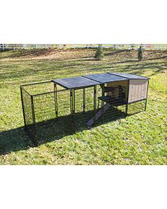 4' x 12' Run With K9 Kennel Castle/Barn House (Basic)