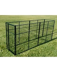 4' X 16' Basic 7' Tall Wire Kennel (Powder-Coated)