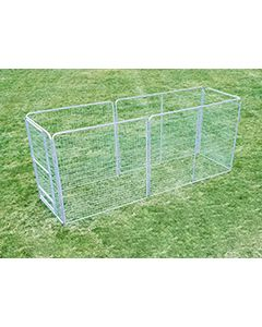 4' X 16' Basic Dog Kennel Pro (Galvanized)