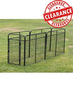 4' x 16' Standard Powder-Coated Kennel (CLEARANCE)