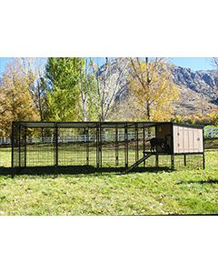4' x 16' Run With K9 Kennel Castle/Barn House (Basic)