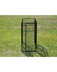 4' X 4' Basic 7' Tall Wire Kennel (Powder-Coated)