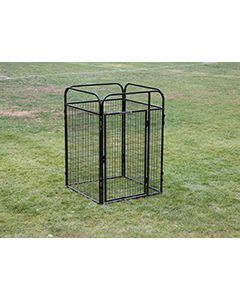 4' X 4' Basic Standard Dog Kennel (Powder-Coated)