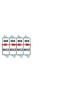 4' X 4' Inside 4' X 12' Outside Multiple 7' Tall Dog Kennels x4