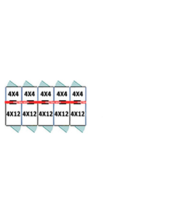 4' X 4' Inside 4' X 12' Outside Multiple 7' Tall Dog Kennels x5