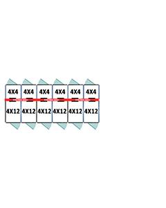 4' X 4' Inside 4' X 12' Outside Multiple Pro Dog Kennels x6