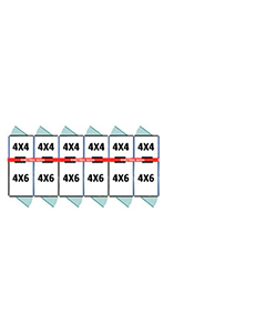 4' X 4' Inside 4' X 6' Outside Multiple Pro Dog Kennels x6