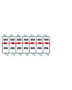 4' X 4' Inside 4' X 6' Outside Multiple Pro Dog Kennels x7