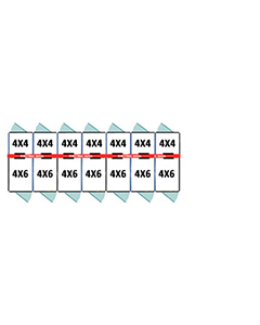 4' X 4' Inside 4' X 6' Outside Multiple 7' Tall Dog Kennels x7