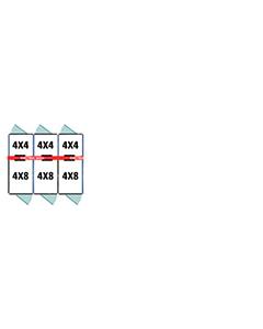 4' X 4' Inside 4' X 8' Outside Multiple 7' Tall Dog Kennels x3