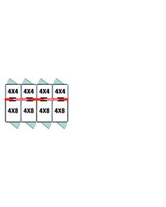 4' X 4' Inside 4' X 8' Outside Multiple 7' Tall Dog Kennels x4