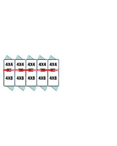 4' X 4' Inside 4' X 8' Outside Multiple Pro Dog Kennels x5