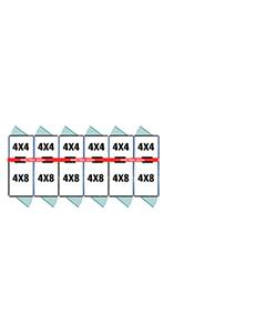 4' X 4' Inside 4' X 8' Outside Multiple 7' Tall Dog Kennels x6