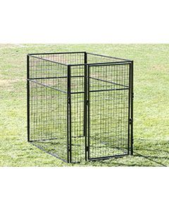 4' X 6' Basic 7' Tall Wire Kennel (Powder-Coated)