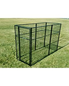 4' X 8' Basic 7' Tall Wire Kennel (Powder-Coated)