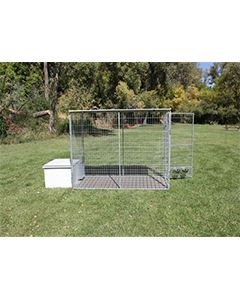 4' X 8' Complete K9 Condo PRO Dog Kennel