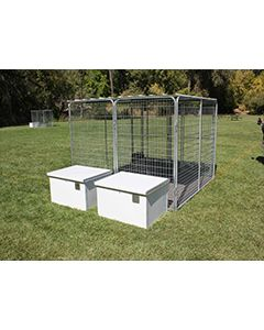 4' X 8' Multiple K9 Condo PRO Dog Kennels X2