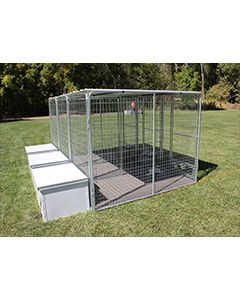 4' X 8' Multiple K9 Condo PRO Dog Kennels X4