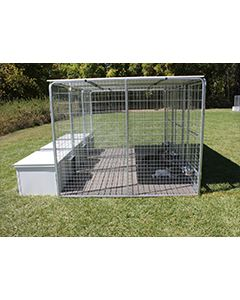 4' X 8' Multiple K9 Condo PRO Dog Kennels X5