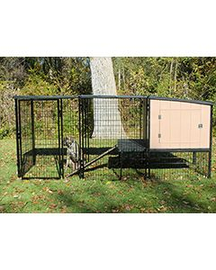 4' x 8' Run With K9 Kennel Castle/Barn House (Basic)