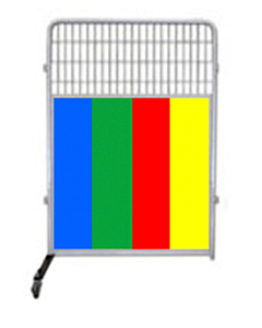 4' Kennel PRO Partition/Room Divider Panel W/ Color