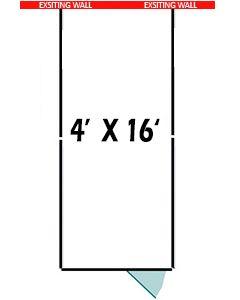 4' X 16' Three Sided Basic 7' Tall Wire Dog Kennel