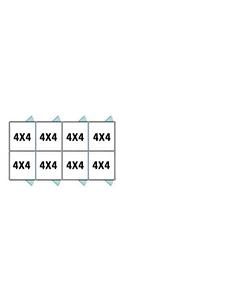 4' X 4' Multiple Standard Back To Back Dog Kennels x4