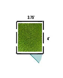 3.74' X 4' K9 Kennel Turf System