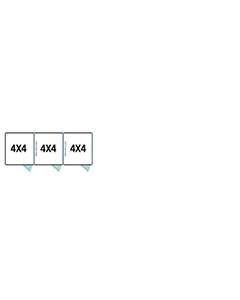 4' X 4' Multiple Standard Full Stall Dog Kennels x3