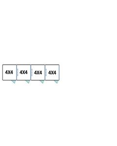 4' X 4' Multiple Standard Full Stall Dog Kennels x4