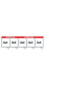 4' X 4' Multiple PRO No Back Dog Kennels x5