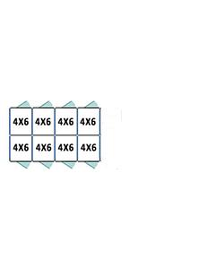 4' X 6' Multiple Standard Back To Back Dog Kennels x4