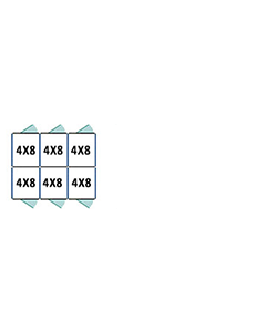 4' X 8' Multiple Standard Back To Back Dog Kennels x3