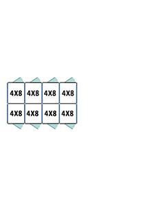 4' X 8' Multiple Standard Back To Back Dog Kennels x4