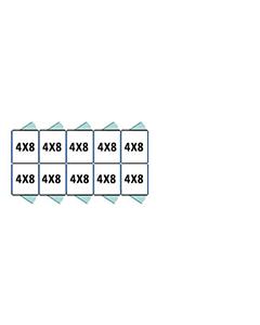 4' X 8' Multiple Standard Back To Back Dog Kennels x5