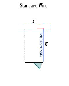 4' X 8' Multiple Standard Full Stall Dog Kennels ADDITIONAL STALLS